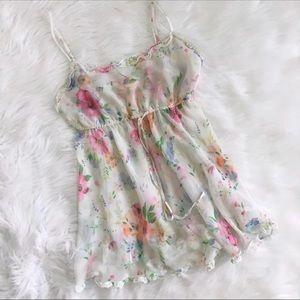 VS Sheer Floral Slip Dress